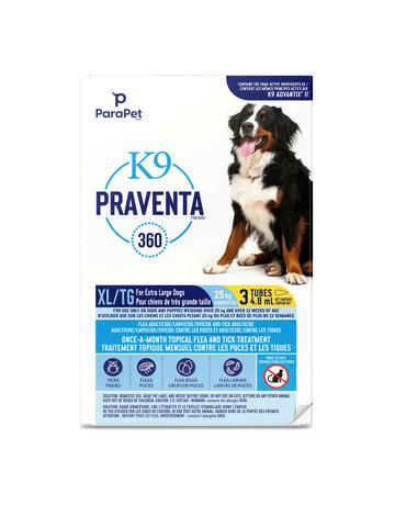 K9 K9 Praventa 360 traitement pour chiens de très grandes races, 3 tubes //