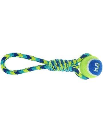 Zeus Zeus K9 corde nouée avec balle de tennis à tirer (17 po) //==