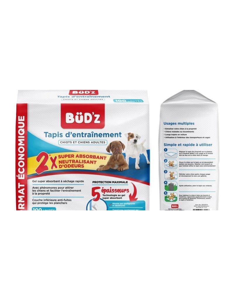 Bud'z Bud'z tapis d'entrainement 22'' x 22'' 100unités //