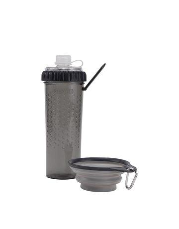 Dexas Dexas bouteillegris clair duo collation et ration d'eau 2 x 12 oz //