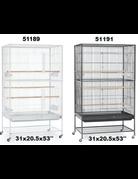 Cage volière blanche 30''X20,5''X53'' -