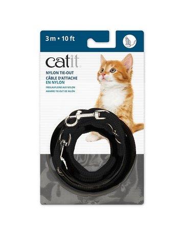 Catit Catit câble d'attache en nylon 3m ou 10 pieds couleurs assorties (noir ou rouge) (6) == ,
