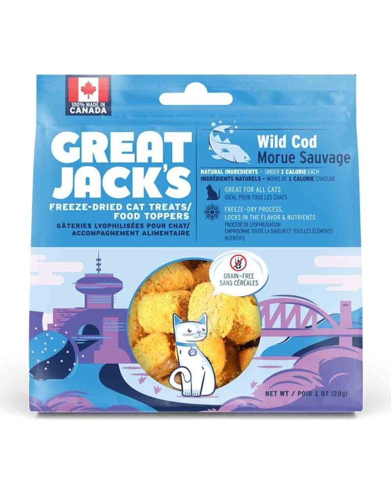 Canadian Jerky Canadian Jerky Great Jack's morue lyophilisé pour chat 1oz