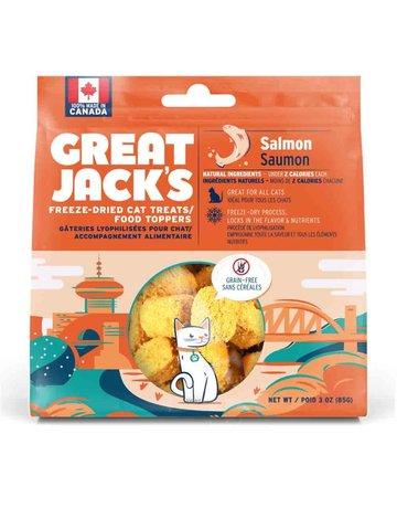 Canadian Jerky Canadian Jerky Great Jack's saumon lyophilisé pour chat 1oz