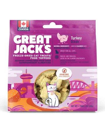 Canadian Jerky Canadian Jerky Great Jack's dinde lyophilisé pour chat 1oz
