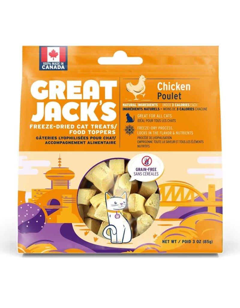 Canadian Jerky Canadian Jerky Great Jack's poulet lyophilisé pour chat 1oz