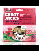 Canadian Jerky Canadian Jerky Great Jack's foie de boeuf lyophilisé pour chiens 1oz