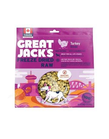 Canadian Jerky Canadian Jerky Great Jack's dinde lyophilisé pour chiens 1oz