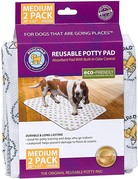 Poochpad Pooch pad tapis d'entrainement blanc moyen 2u