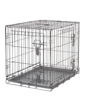 Dogit Dogit cage à 2 portes avec grille de séparation petite, 61 x 45 x 51 cm -