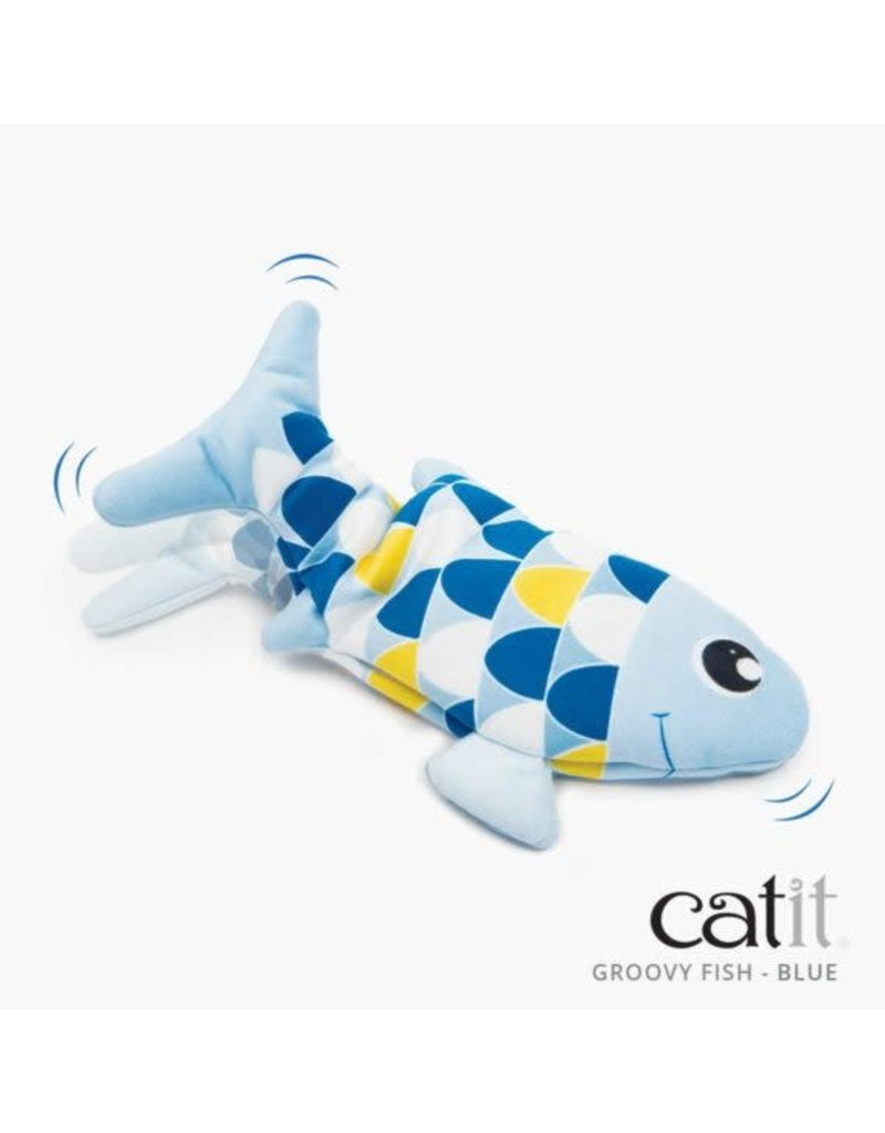 Catit Catit groovy poisson dansant bleu