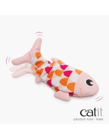 Catit Catit groovy poisson dansant rose