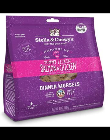 Stella&Chewy Stella & Chewy's Morceaux de repas lyophilisés pour chats - Saumon et poulet (18 oz)