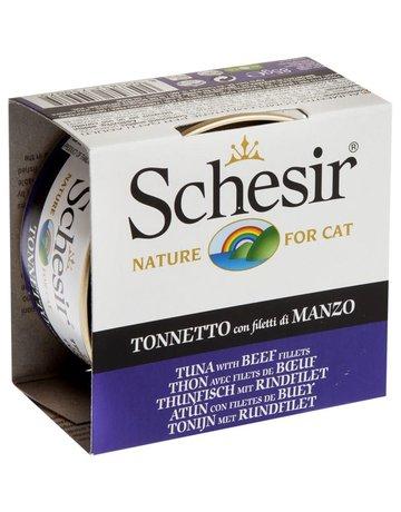 Schesir Schesir chat thon & filets de boeufs  85g (14)