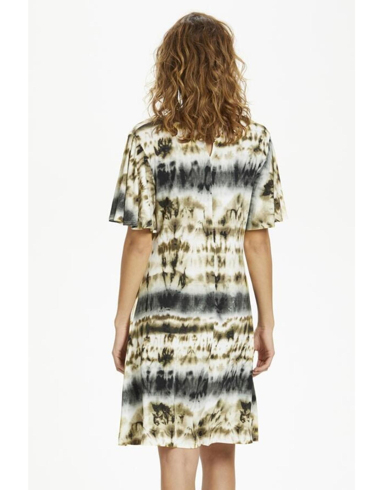 CREAM 10606121  SHORT DRESS