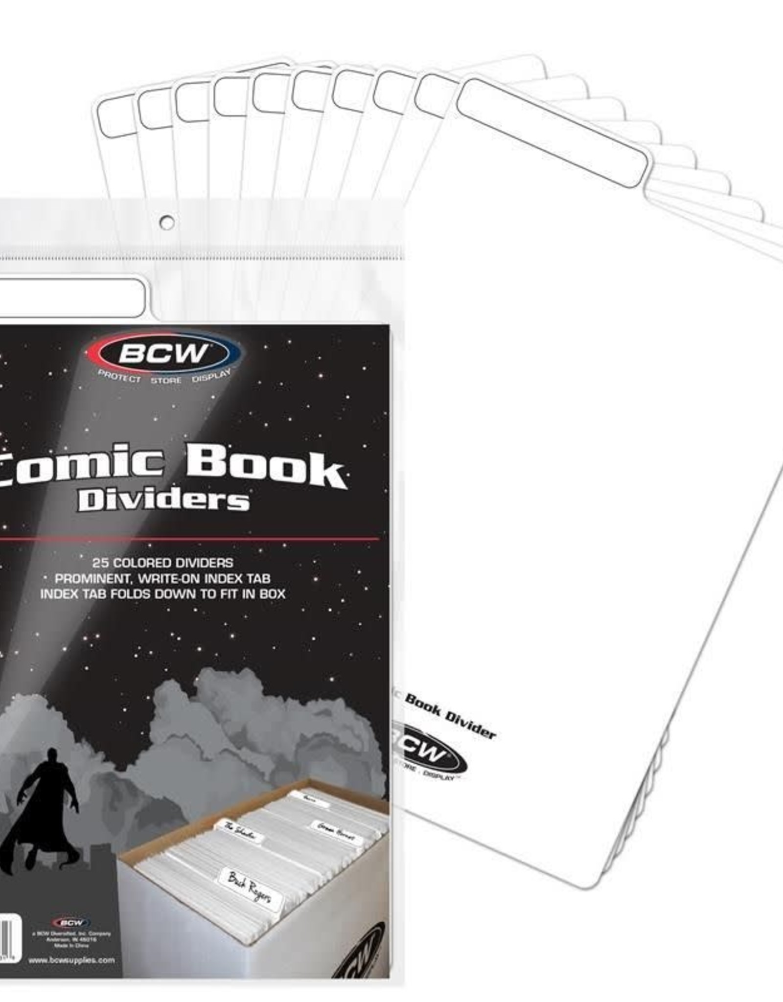 BCW Supplies Comic Book Dividers - White
