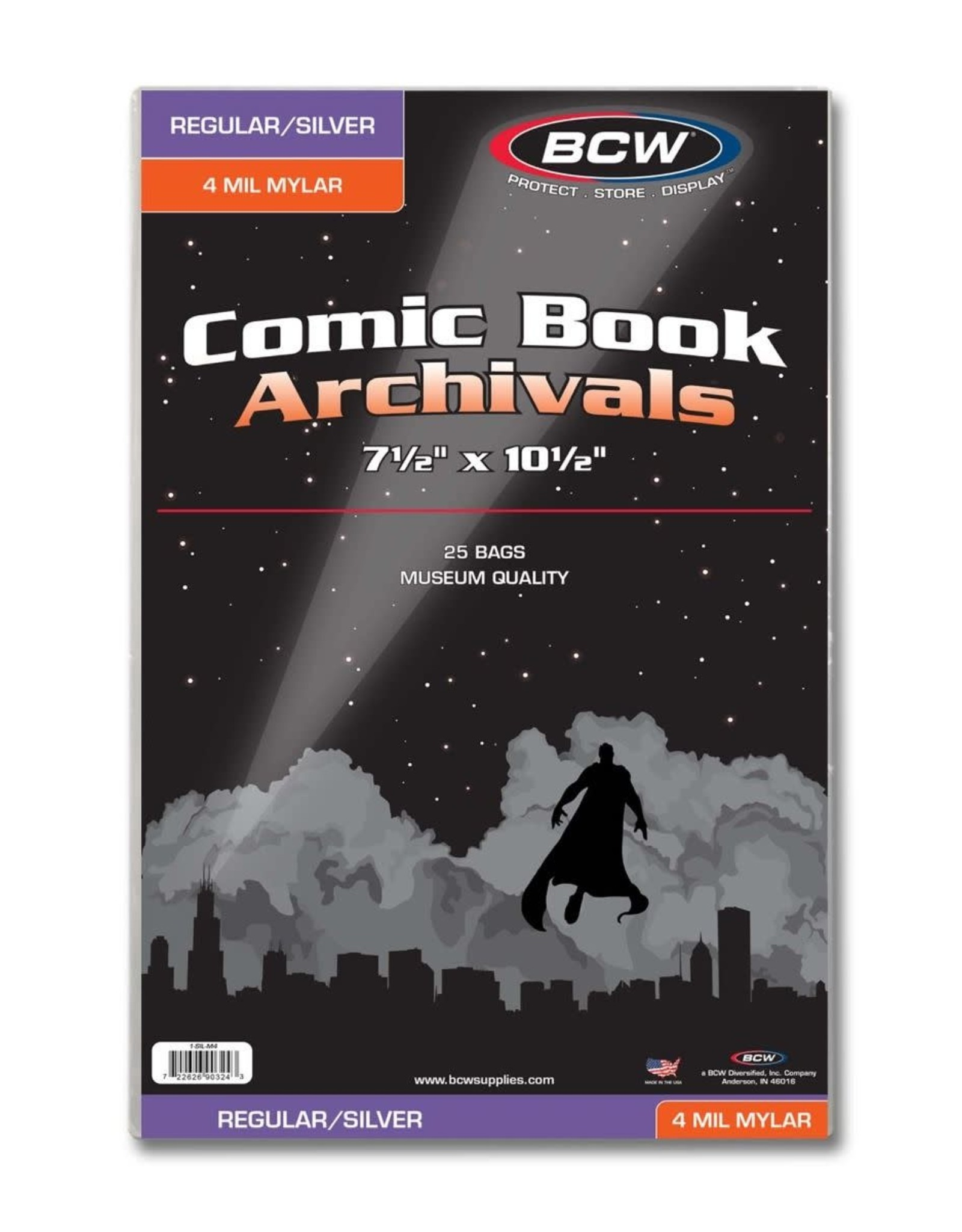 BCW Supplies Regular/Silver Comic Mylar Archivals - 4 MIL 25pk