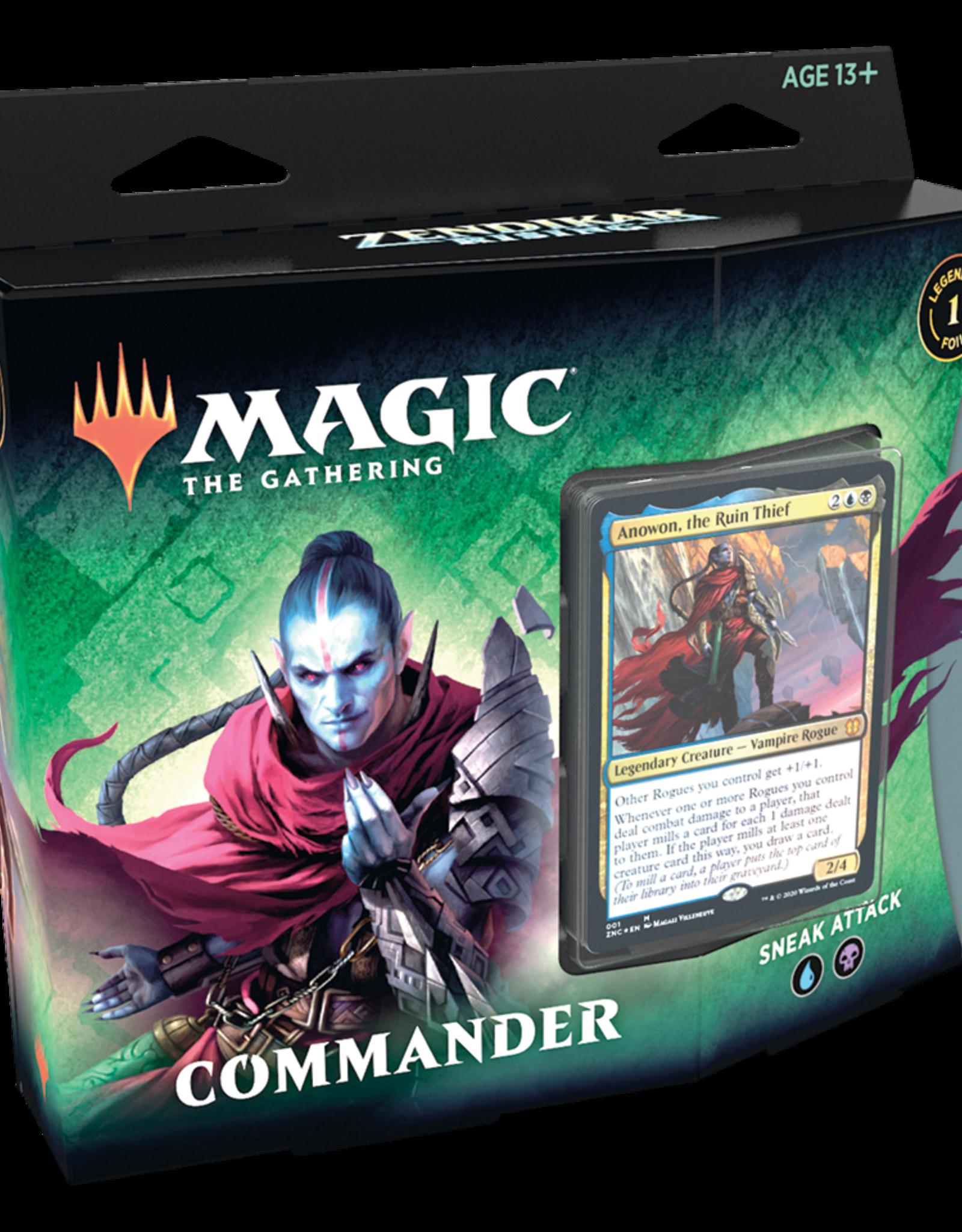 Wizards of the Coast Magic the Gathering: Zendikar Rising Commander Deck Sneak Attack