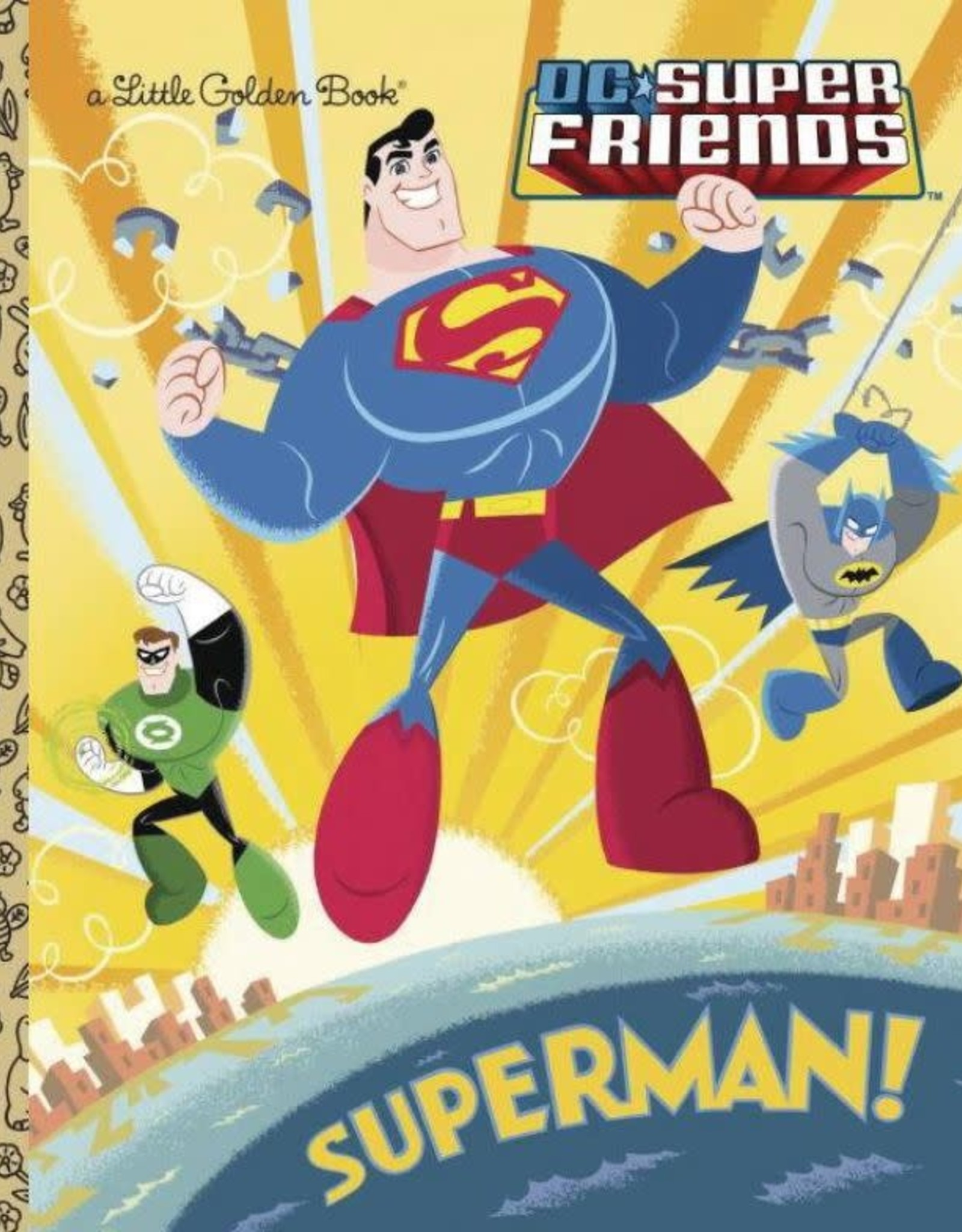 Golden Books DC Super Friends Superman Little Golden Book