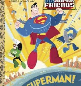 Golden Books DC Super Friends Superman Little Golden Book
