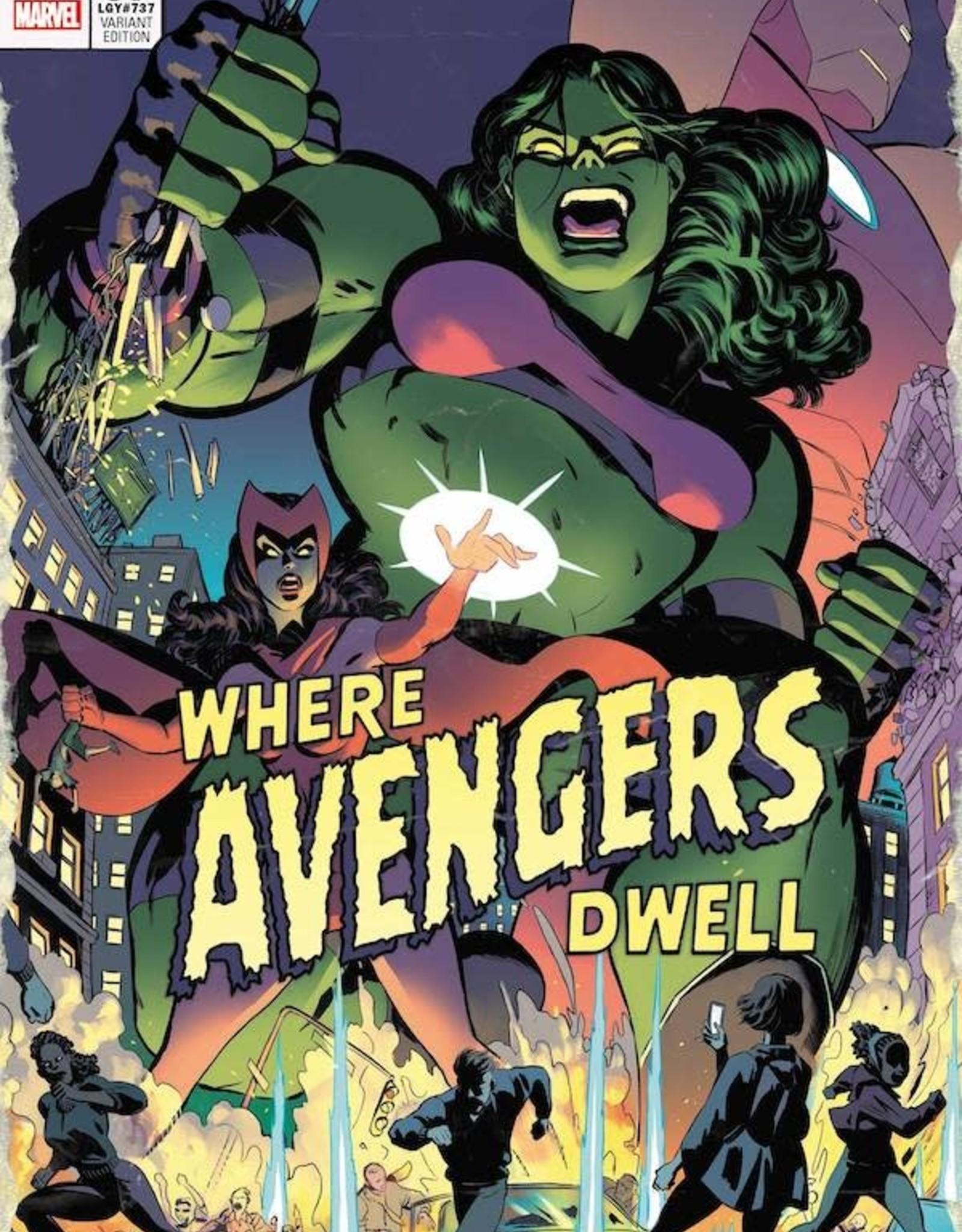 Marvel Comics Avengers #37 Rodriguez Where Avengers Dwell Horror Var