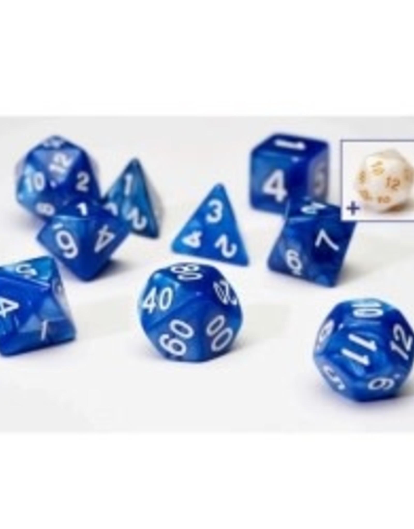 Sirius Dice Dice Block 7ct. - Pearl/Blue/White Acrylic