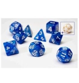 Sirius Dice 7ct Opaque Poly Dice Set Pearl Blue w/White