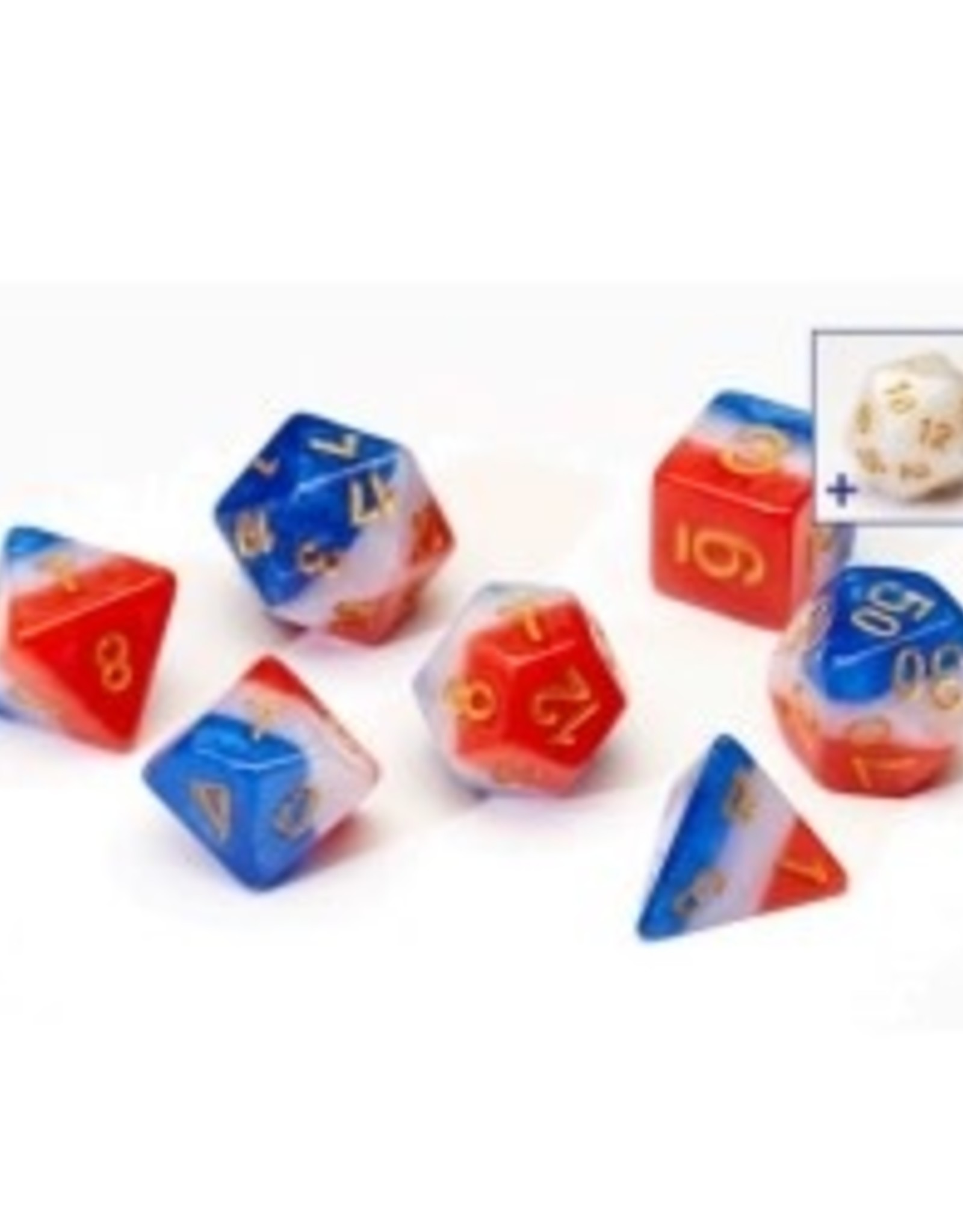Sirius Dice Dice Block 7ct. - Red White And Blue Resin