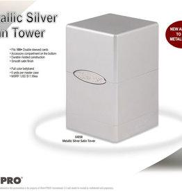 Upper Deck Ultra Pro: Satin Tower Deck Box - Metallic Silver