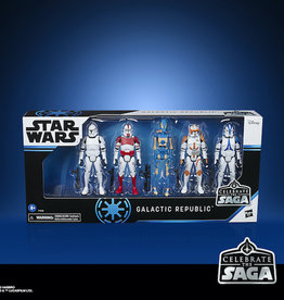 Hasbro Star Celebrate The Saga 3-3/4in Republic 5pc AF Set