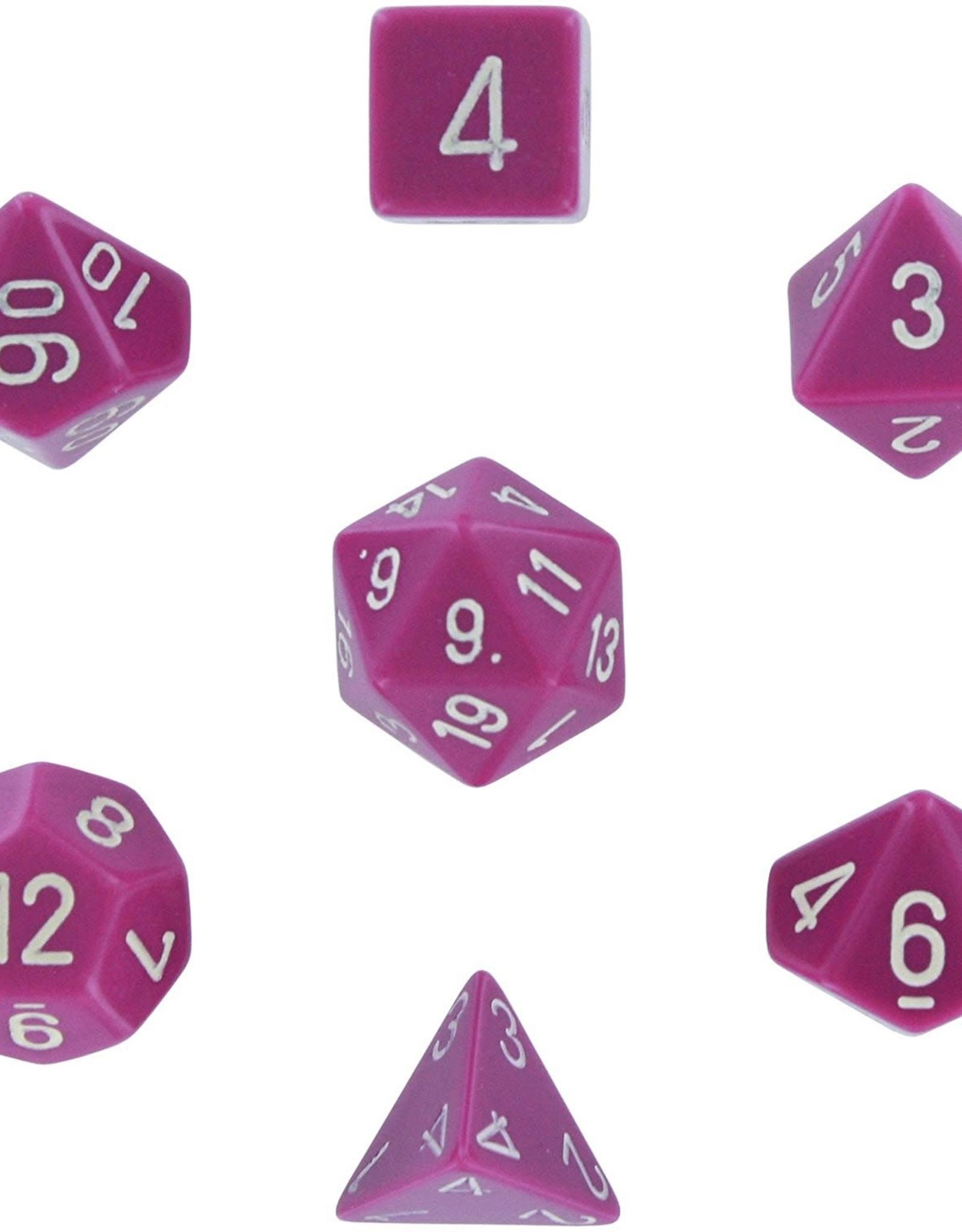 Chessex Dice Block 7ct. - Light Purple/White