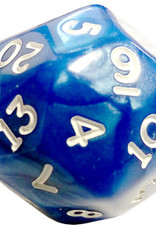Chessex D30 Pearlescent - Blue With White