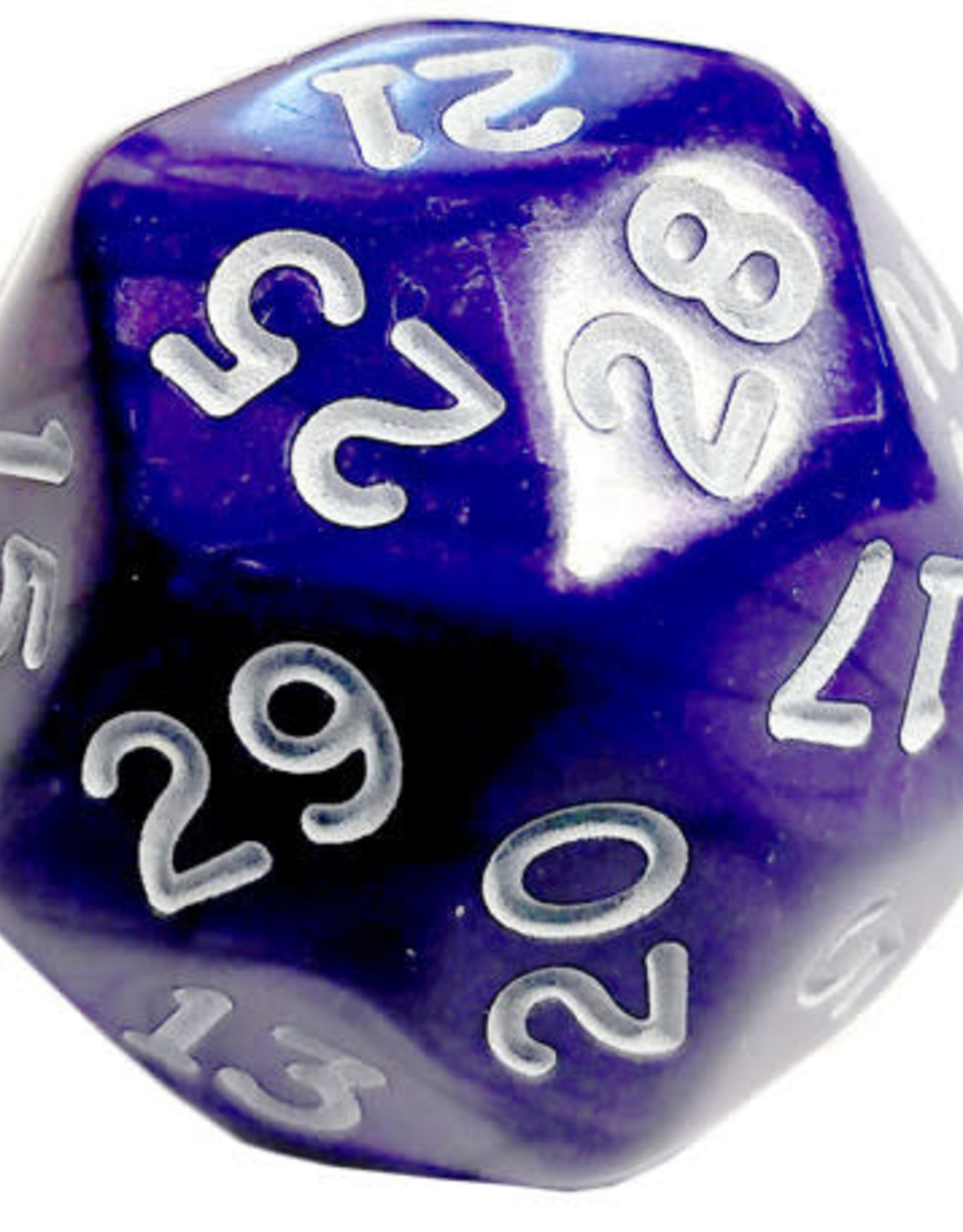 Chessex D30 Pearlescent - Purple With White