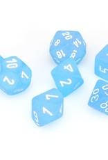 Chessex Dice Block 7ct. - Frosted Caribbean Blue