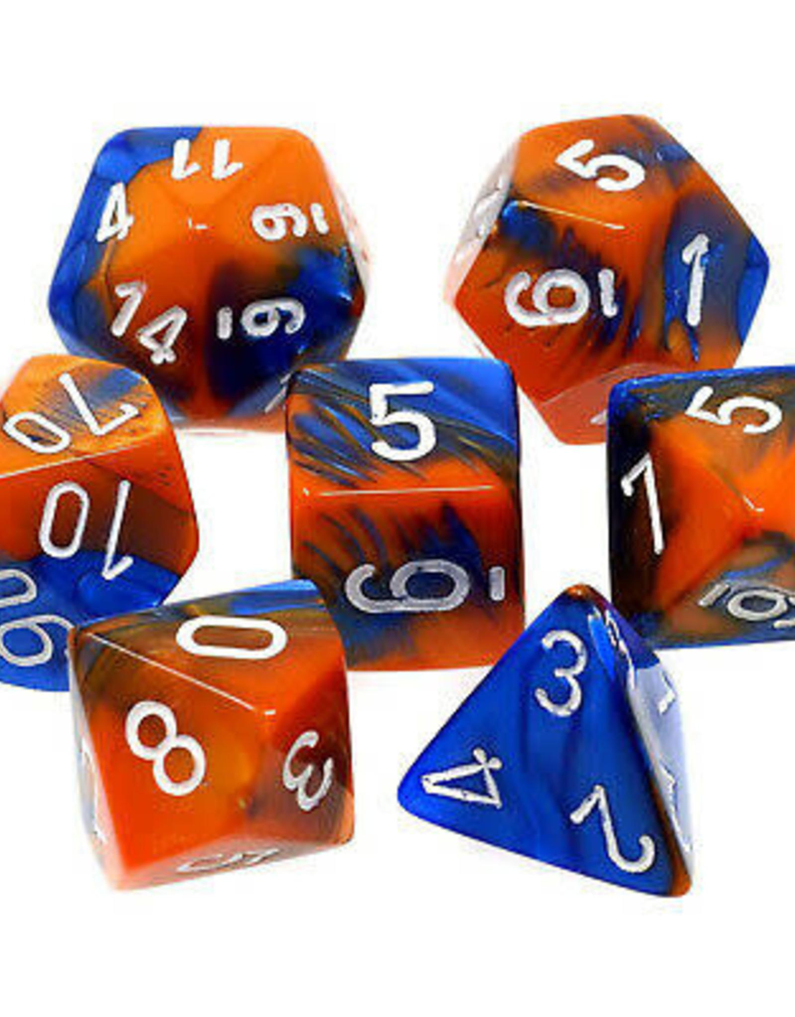 Chessex Dice Block 7ct. - Gemini Blue-Orange