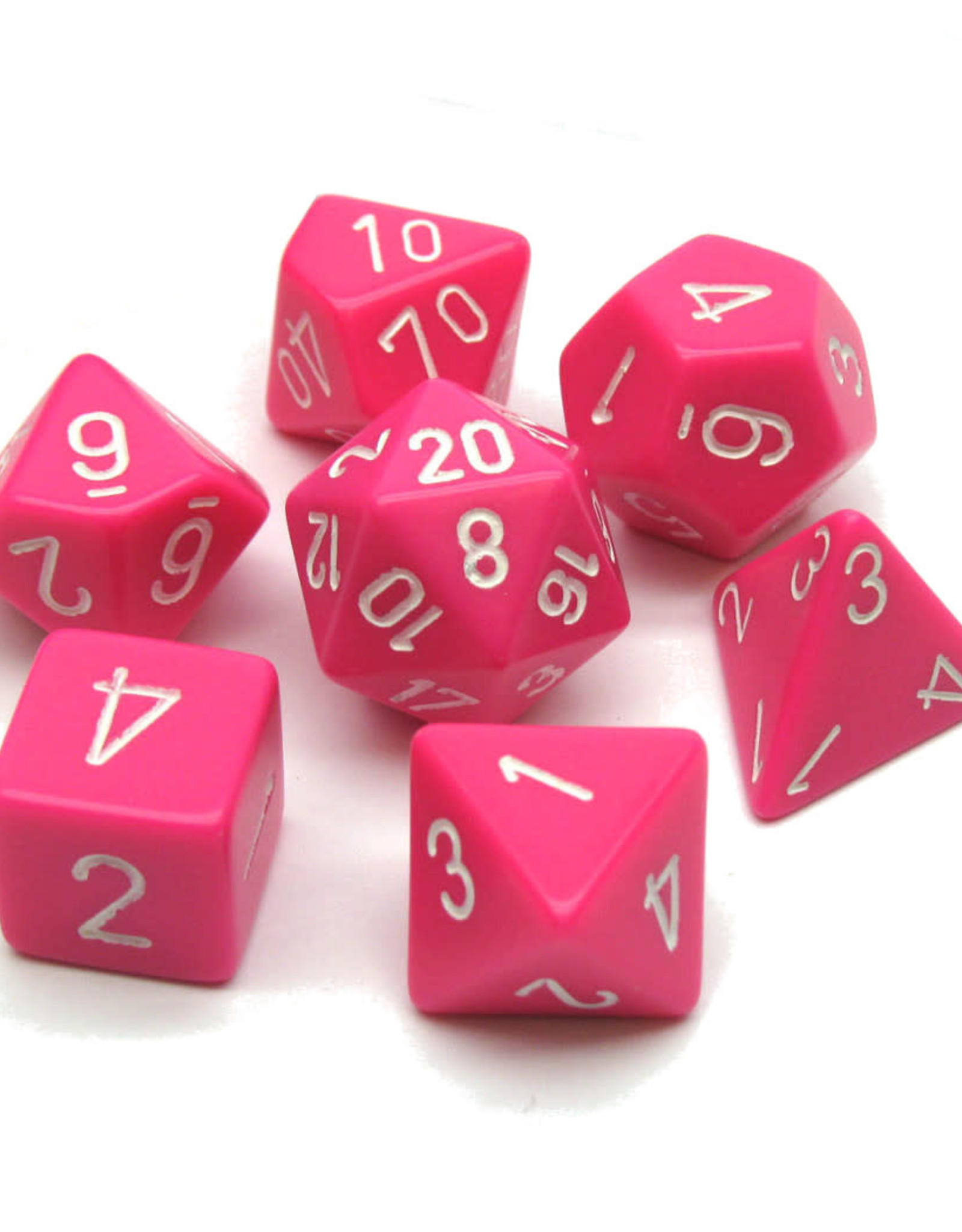 Chessex Dice Block 7ct. - Pink/White