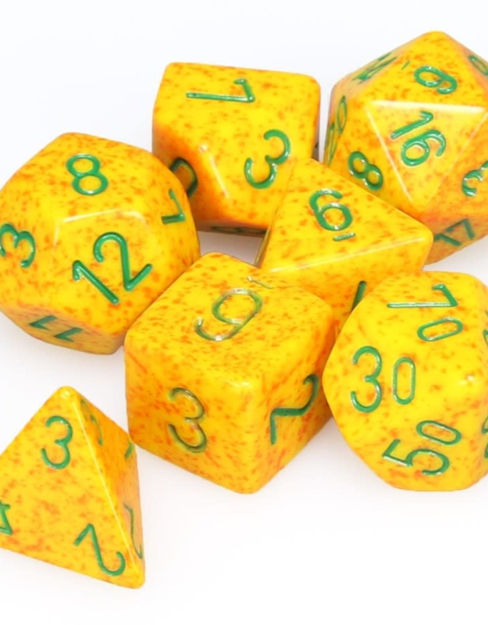 Chessex Dice Block 7ct. - Speckled Lotus