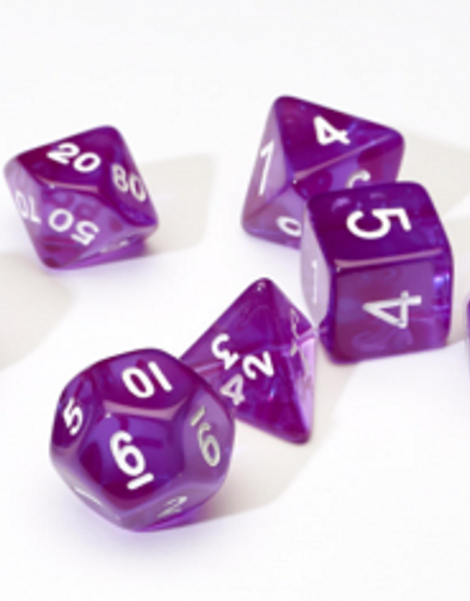 Sirius Dice Dice Block 7ct. - Trans Purple