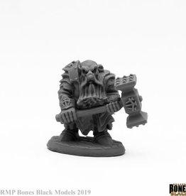 Reaper Reaper Bones Black Dark Dwarf Pounder