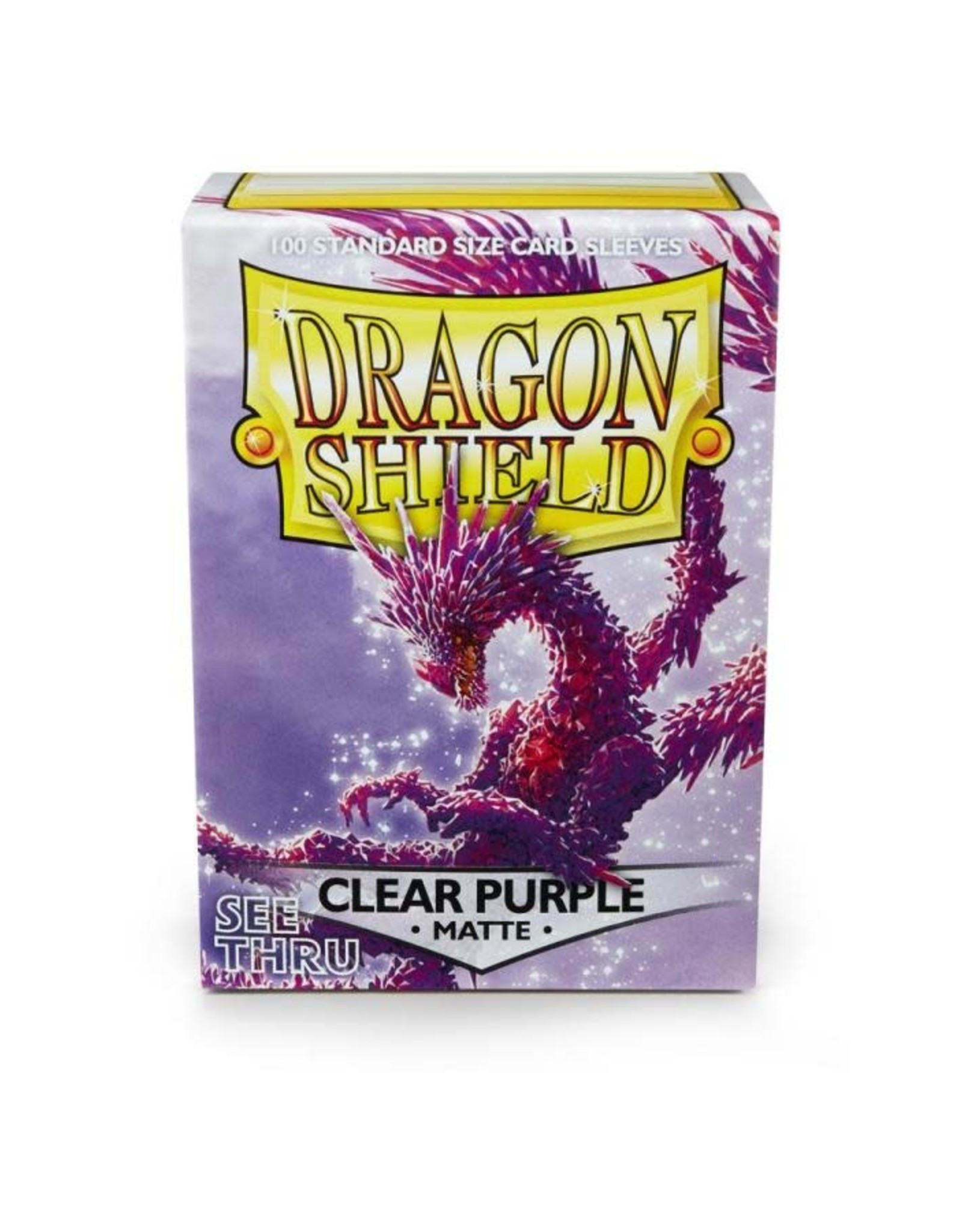 Arcane Tinmen Dragon Shield (100) Matte Clear Purple