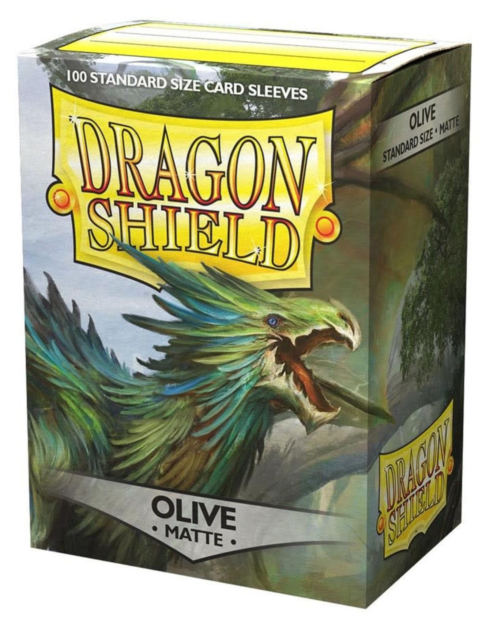 Arcane Tinmen Dragon Shield (100) Matte Olive