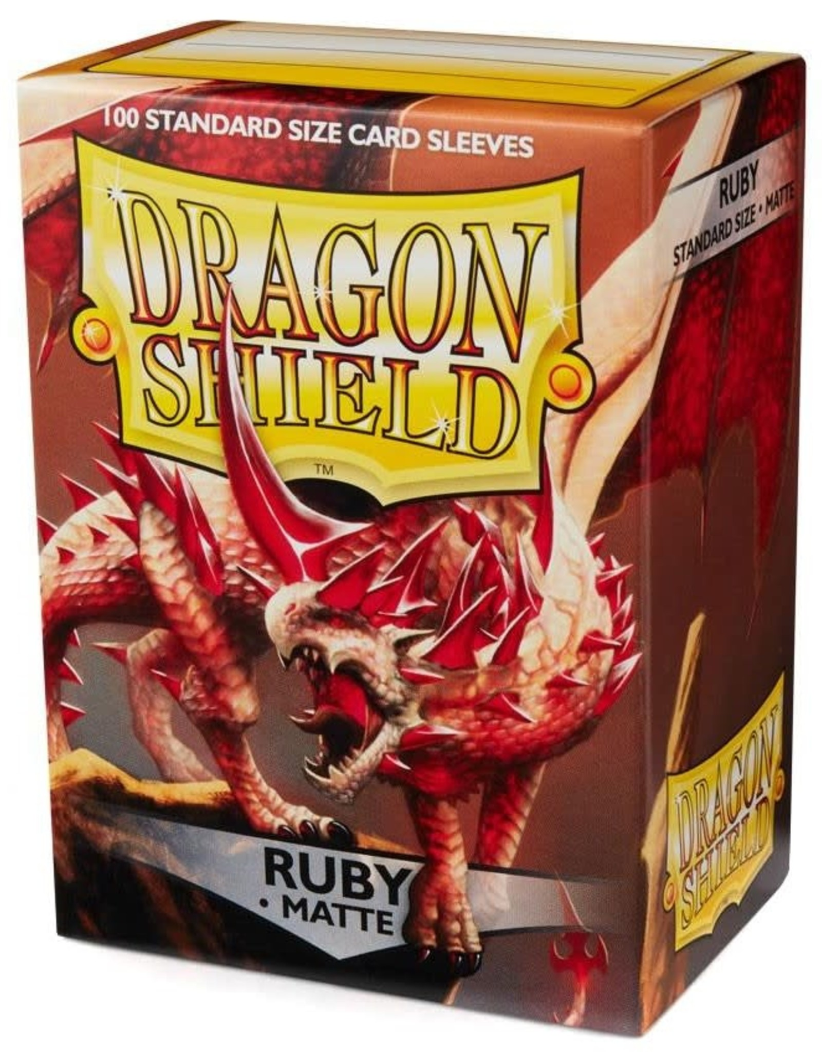 Arcane Tinmen Dragon Shields Sleeves: Matte Ruby 100ct