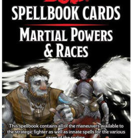 Gale Force 9 Dungeons & Dragons Spellbook Cards Martial Powers & Races