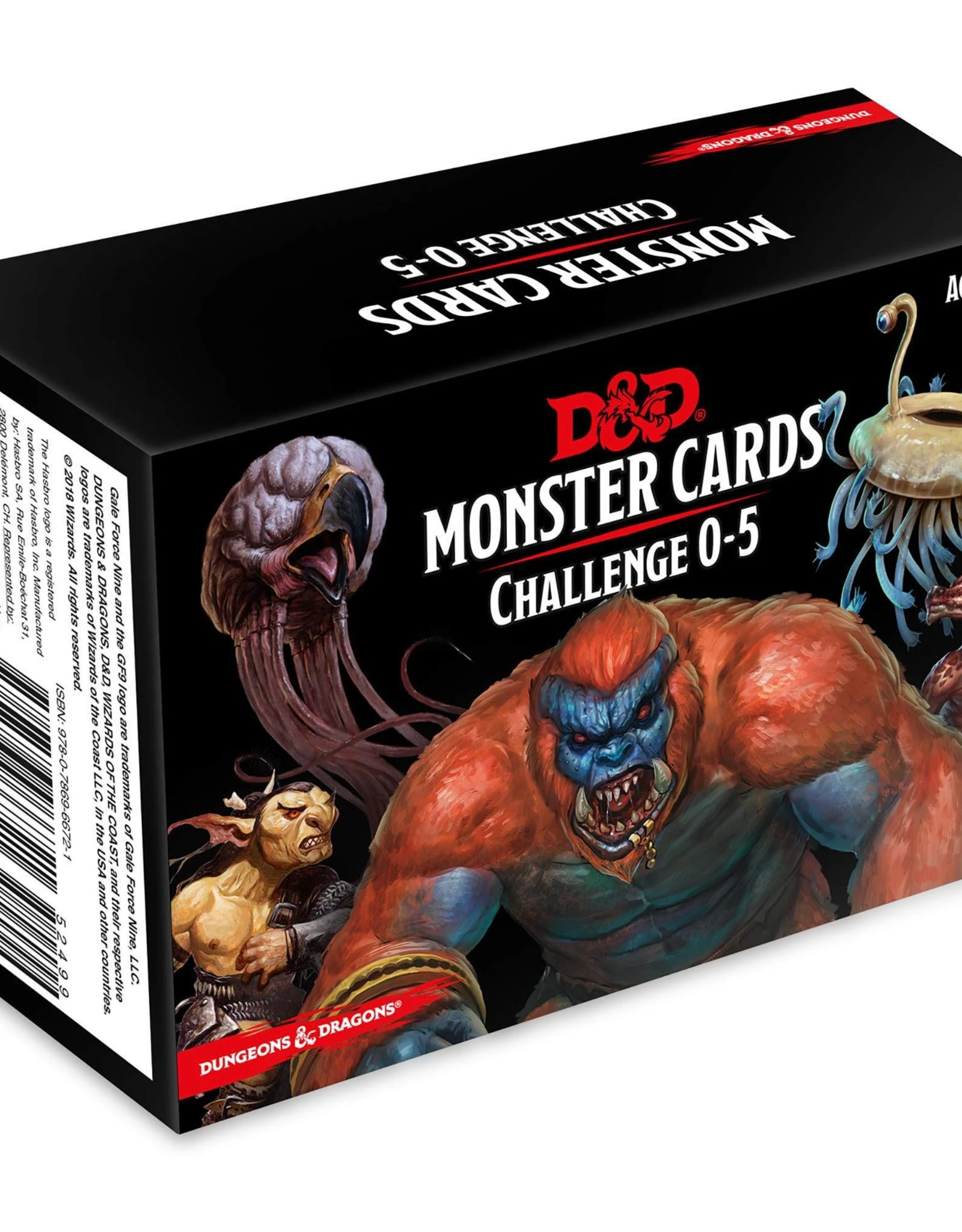 Gale Force 9 Dungeons And Dragons: Monster Cards 0-5