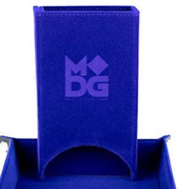 Metallic Dice Games Fold Up Velvet Dice Tower: Blue