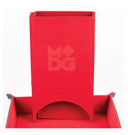 Metallic Dice Games Fold Up Velvet Dice Tower: Red