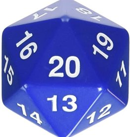 Koplow Games Opaque: 55mm D20 Countdown Blue/White