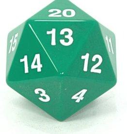 Koplow Games Opaque: 55mm D20 Countdown Green/White