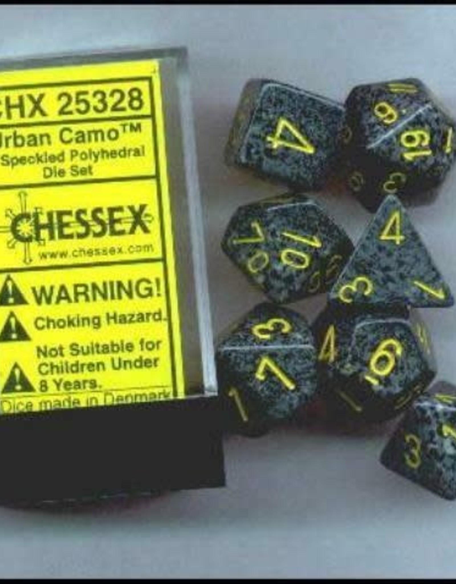 Chessex Dice Block 7ct. - Speckled Urban Camo