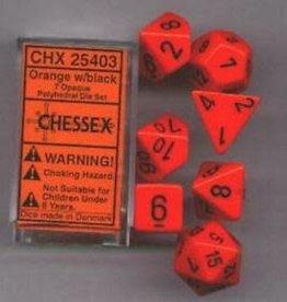 Chessex Dice Block 7ct. - Orange/Black